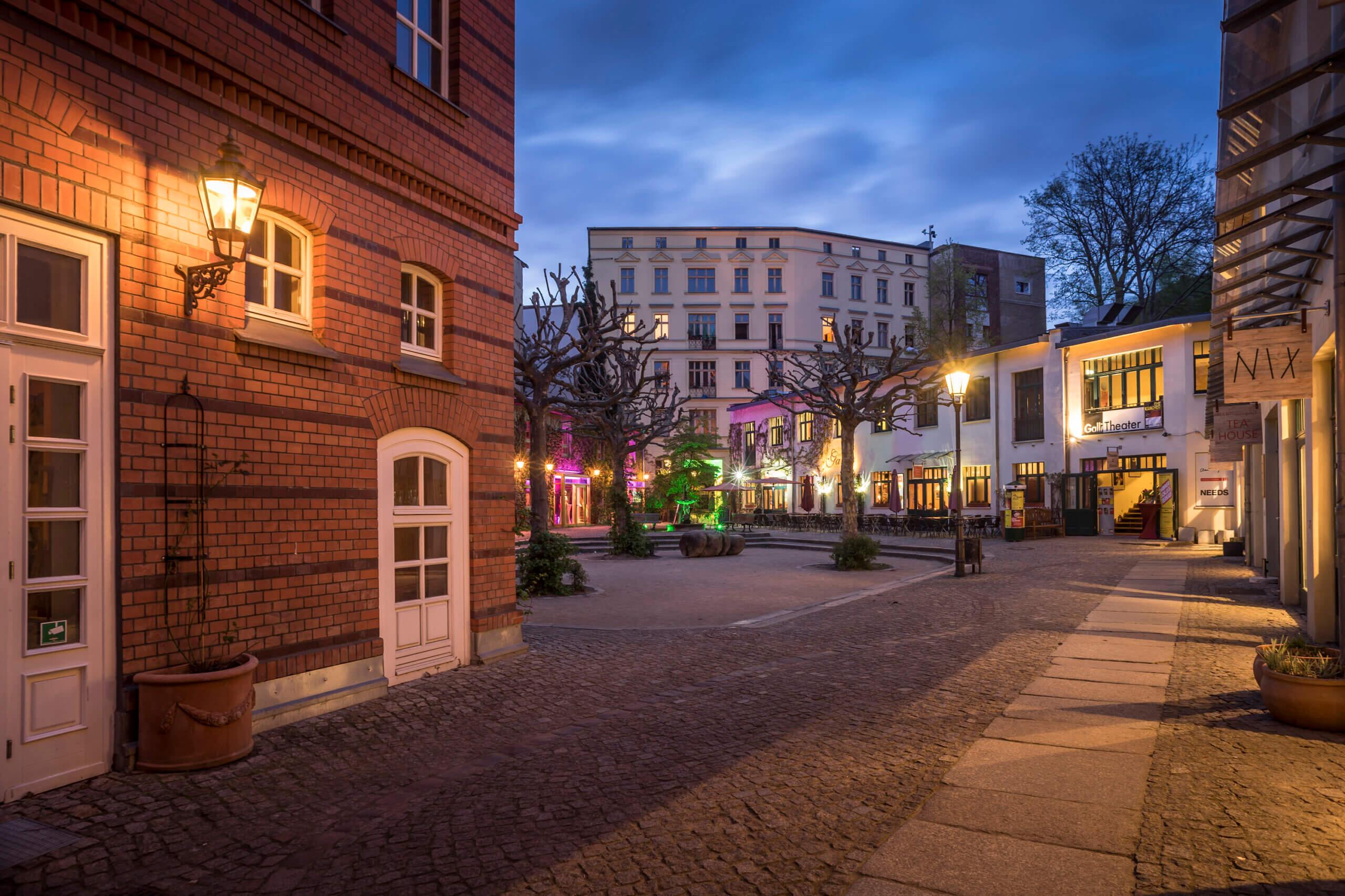 Heckmann Höfe Abend